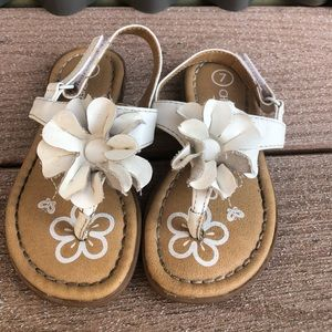 Cherokee white faux leather sandals